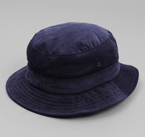 BUCKET HAT, NAVY CORDUROY :: HICKOREE'S