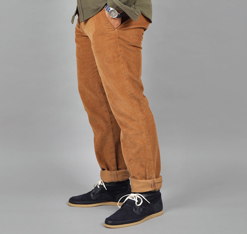 HAND TAILORED CORDUROY TROUSERS, TAN :: HICKOREE'S