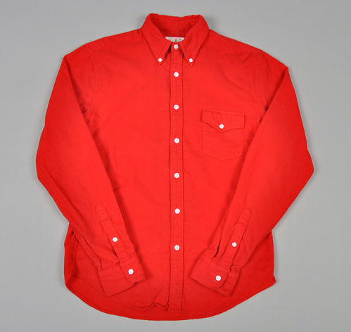 button down shirt bright red chamois flannel hickoree 39 s