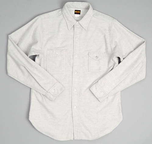 Solid flannel type i shirt grey hickoree 39 s for Types of flannel shirts