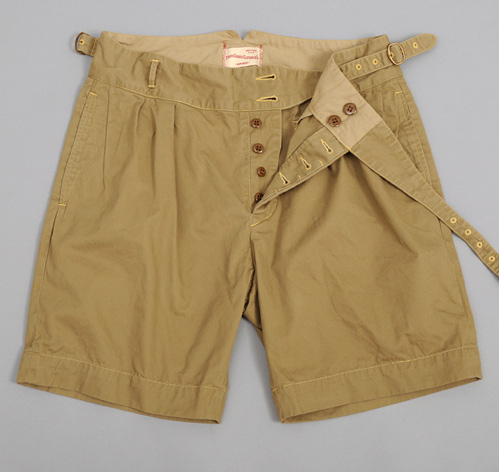 Gurkha Shorts Beige Mini Herringbone Hickoree S