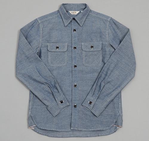 Heavy Chambray Work Shirt Blue Hickoree 39 S