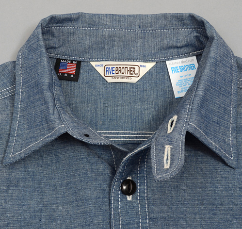 Heavy chambray work shirt blue hickoree 39 s for Usa made work shirts