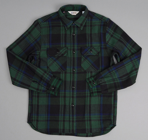 Heavy flannel shirt black watch plaid hickoree 39 s for Heavy plaid flannel shirt