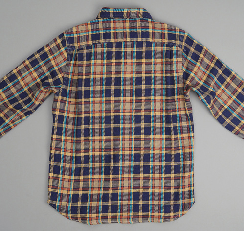 Heavy flannel shirt navy plaid hickoree 39 s for Heavy plaid flannel shirt