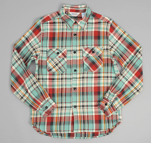 Heavy flannel shirt green plaid hickoree 39 s for Heavy plaid flannel shirt
