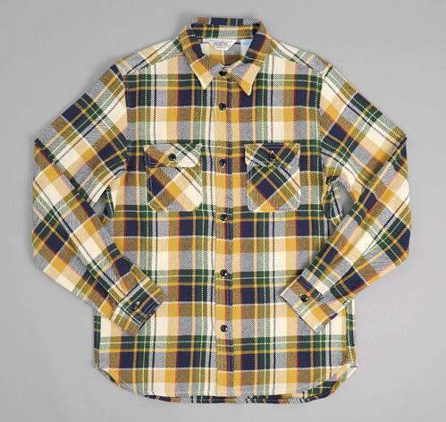 Heavy flannel shirt mustard plaid hickoree 39 s for Heavy plaid flannel shirt