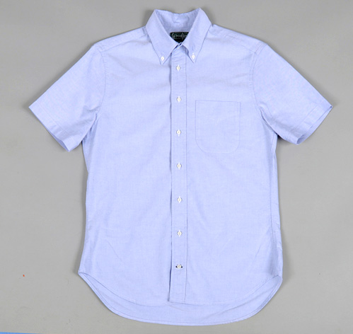 SHORT SLEEVE BUTTON-DOWN COLLAR SHIRT, BLUE OXFORD :: HICKOREE'S