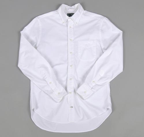 Button down collar shirt white oxford hickoree 39 s for White button down collar shirt