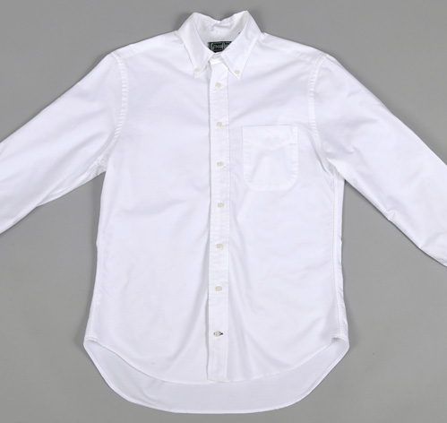 Button down collar shirt white oxford hickoree 39 s for White button down collar oxford shirt