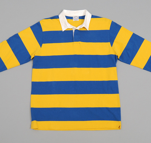 Amp Rugger Amp Shirt Blue Yellow Hickoree S