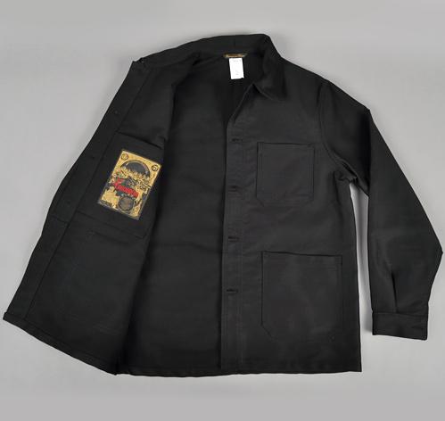 bleu de travail french work jacket black hickoree 39 s. Black Bedroom Furniture Sets. Home Design Ideas
