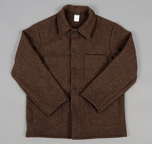 BLEU DE TRAVAIL&quot FRENCH WORK JACKET NATURAL BROWN WOOL :: HICKOREE&39S