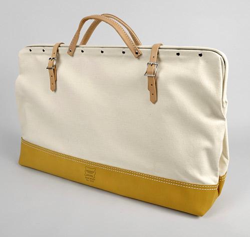 Canvas leather mason bag