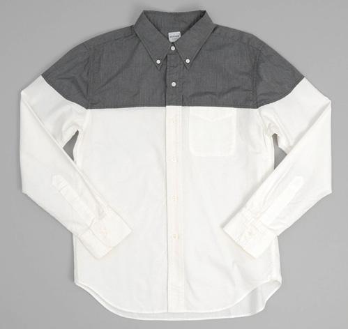 Grey White Shirt | Is Shirt