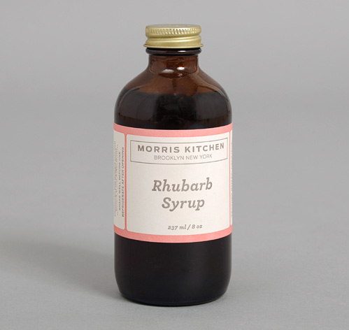 HAND MADE RHUBARB SYRUP, 8 OZ BOTTLE :: HICKOREE'S