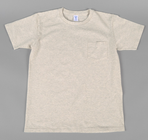 Crew Neck Pocket T Shirt 2 Pack Oatmeal Heather Hickoree S
