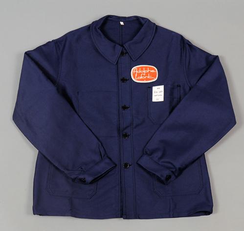 vintage deadstock blue moleskin bleu de travail jacket adolphe lafont brand hickoree 39 s. Black Bedroom Furniture Sets. Home Design Ideas