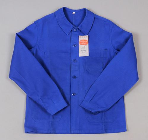 vintage deadstock light blue twill bleu de travail jacket adolphe lafont brand hickoree 39 s. Black Bedroom Furniture Sets. Home Design Ideas