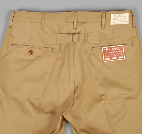 Buckle Back Work Chinos Raw Khaki Hickoree S Exclusive