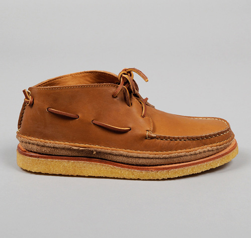 HIPPIE SHOE MOCCASINS, PLAINSMAN BROWN CHROMEXCEL LEATHER, HICKOREE'S EXCLUSIVE :: HICKOREE'S