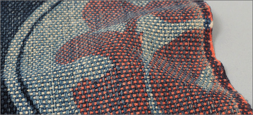 Sashiko Fabric Panel From Fireman's Uniform