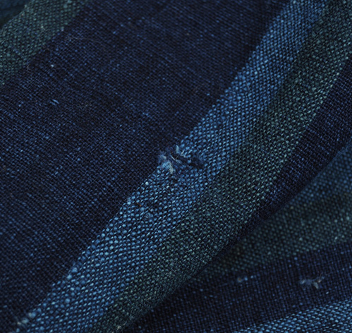 Fabric Panel Indigo Green Stripe Hickoree S