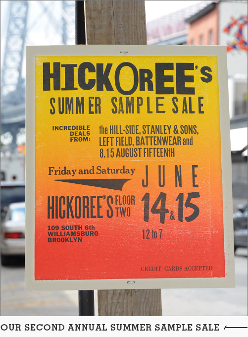 Hickoree's & The Hill-Side Rummage Sale
