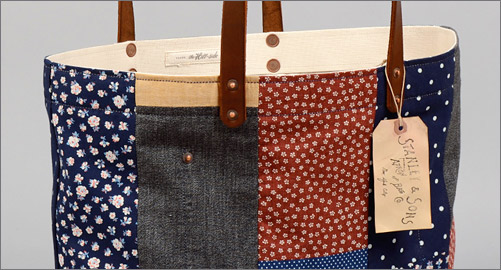 Stanley & Sons Patchwork Tote Bag #4