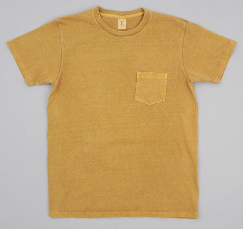 crew neck pocket t shirt mustard pigment dye hickoree 39 s. Black Bedroom Furniture Sets. Home Design Ideas